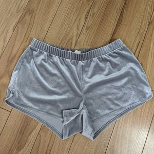 Madewell velour gray silver athletic shorts